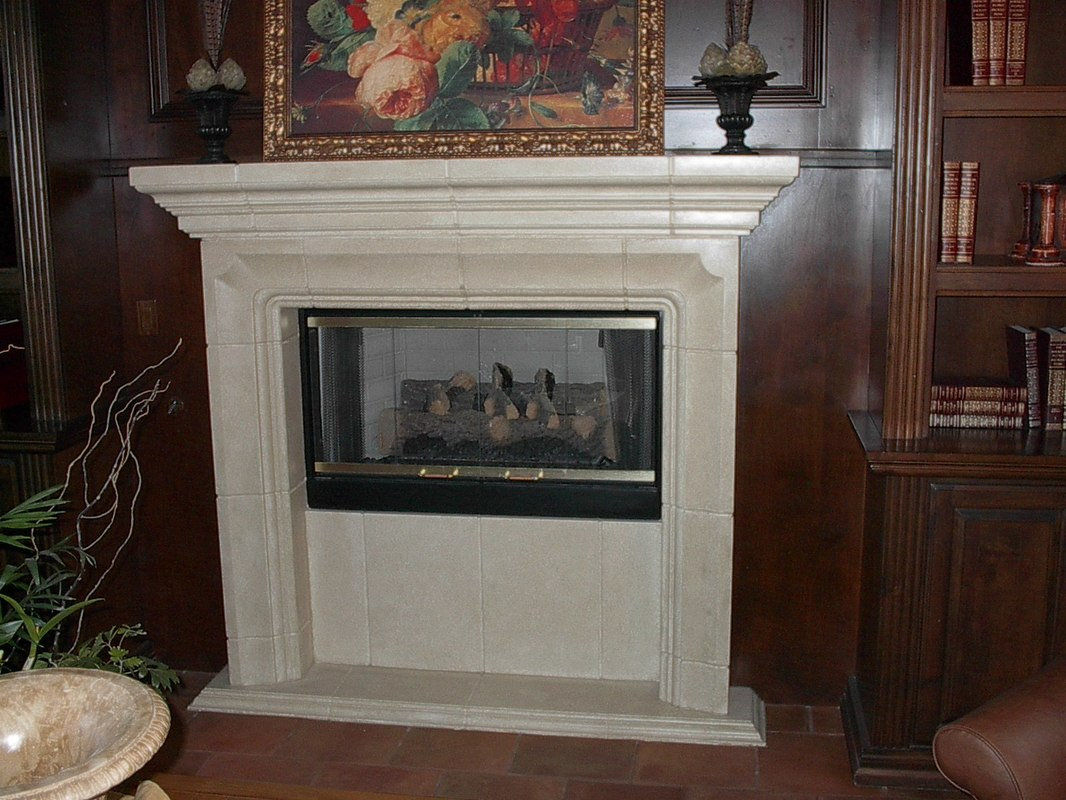fireplace top cast innovative modern fireplaces style precast stone option nature